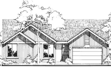 2-Bedroom, 1400 Sq Ft Contemporary Home Plan - 146-1776 - Main Exterior
