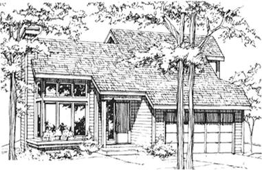 3-Bedroom, 1246 Sq Ft Contemporary Home Plan - 146-1779 - Main Exterior