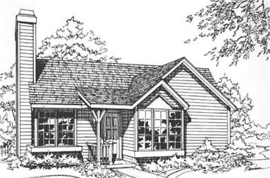 2-Bedroom, 1016 Sq Ft Modern Home Plan - 146-1780 - Main Exterior