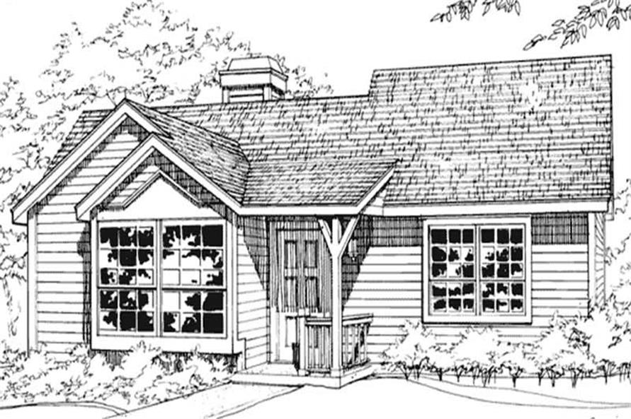 1-Bedroom, 784 Sq Ft Country Home Plan - 146-1781 - Main Exterior