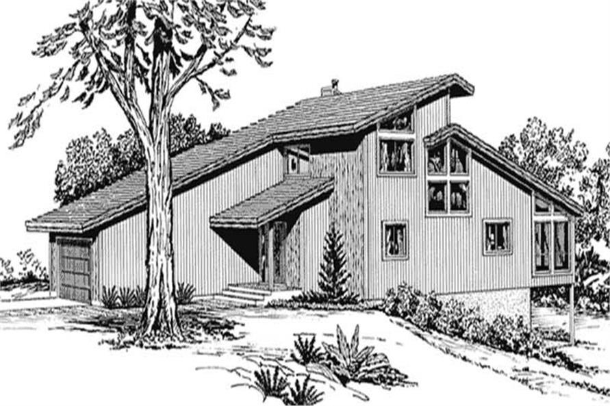 2-Bedroom, 1195 Sq Ft Cape Cod Home Plan - 146-1782 - Main Exterior