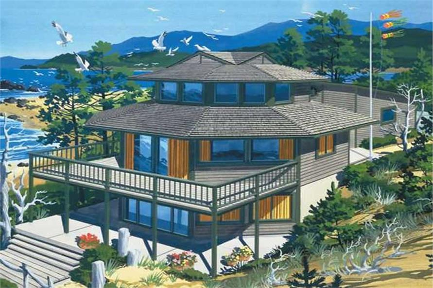 3-Bedroom, 2458 Sq Ft Vacation Homes House Plan - 146-1783 - Front Exterior
