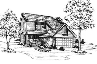 3-Bedroom, 1502 Sq Ft Country House Plan - 146-1786 - Front Exterior