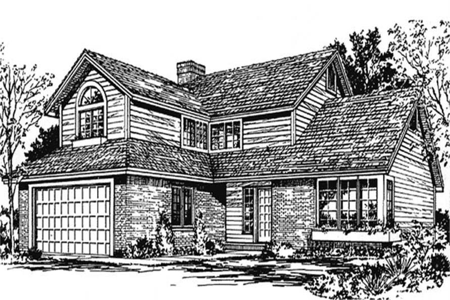 3-Bedroom, 2064 Sq Ft Country House Plan - 146-1795 - Front Exterior