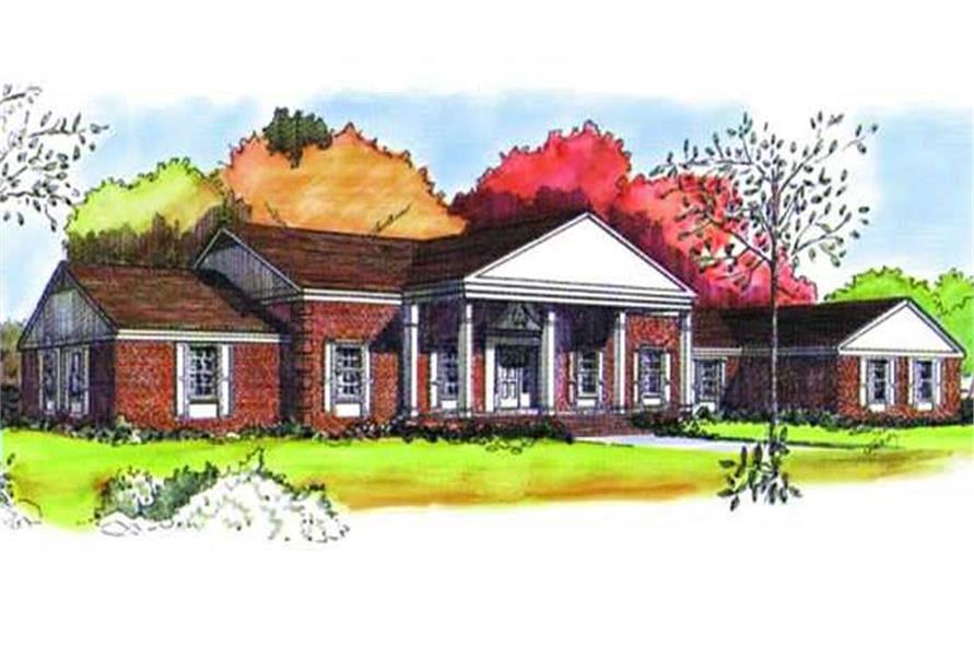 Color Rendering of this home plan