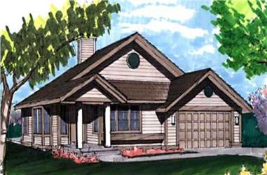 2-Bedroom, 1270 Sq Ft Country Home Plan - 146-1800 - Main Exterior