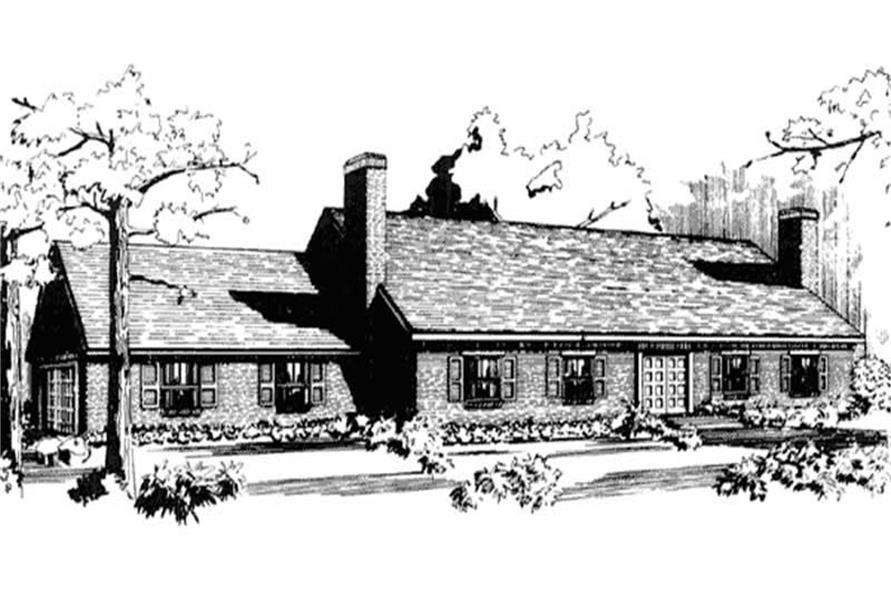 Front View to home plan LS-H-1418-1