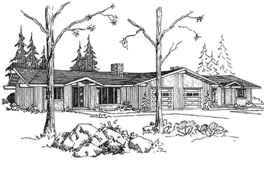 Front elevation of Multi-Unit home (ThePlanCollection: House Plan #146-1810)