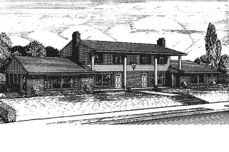 2-Bedroom, 1813 Sq Ft Colonial House Plan - 146-1813 - Front Exterior