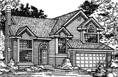 3-Bedroom, 2415 Sq Ft Country Home Plan - 146-1816 - Main Exterior