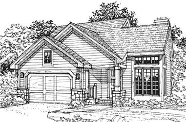 3-Bedroom, 1148 Sq Ft Cape Cod House Plan - 146-1818 - Front Exterior