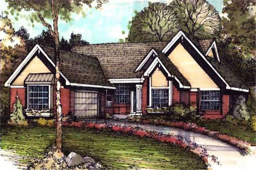Country Homeplans LS-B-90030 color rendering.