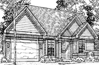 2-Bedroom, 1726 Sq Ft Country House Plan - 146-1824 - Front Exterior