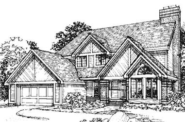 3-Bedroom, 2326 Sq Ft Country House Plan - 146-1826 - Front Exterior
