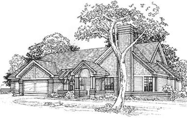 3-Bedroom, 2770 Sq Ft Country House Plan - 146-1829 - Front Exterior