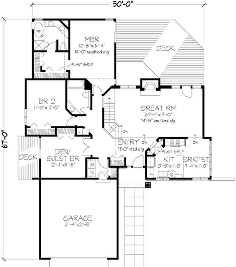 Ranch House Plan 2 Bedrms 2 Baths 1700 Sq Ft 146 1831