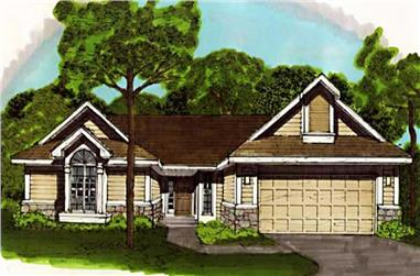 2-Bedroom, 1584 Sq Ft Country Home Plan - 146-1835 - Main Exterior