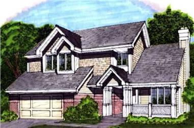3-Bedroom, 1850 Sq Ft Country House Plan - 146-1838 - Front Exterior