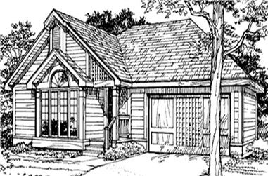 2-Bedroom, 1365 Sq Ft Country Home Plan - 146-1839 - Main Exterior