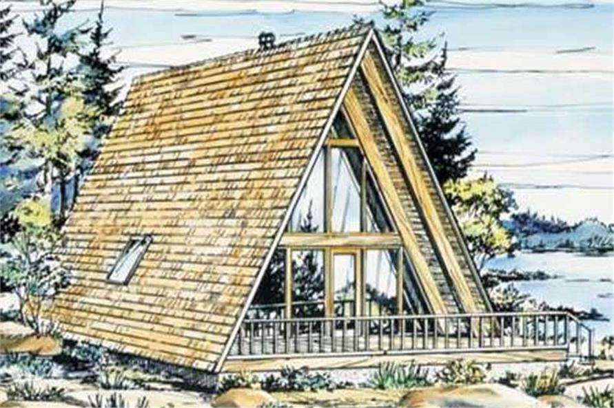 A frame house plans home design ls h 15 1 for A frame cottage plans