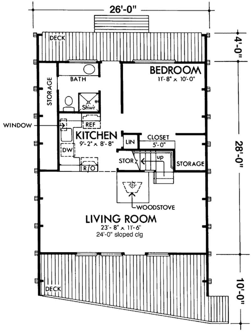 A frame house plans home design ls h 15 1 for Floor framing plan