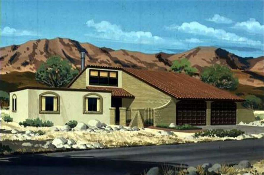 3-Bedroom, 1904 Sq Ft Contemporary Home Plan - 146-1843 - Main Exterior