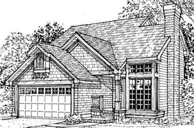 2-Bedroom, 1296 Sq Ft Cape Cod House Plan - 146-1844 - Front Exterior