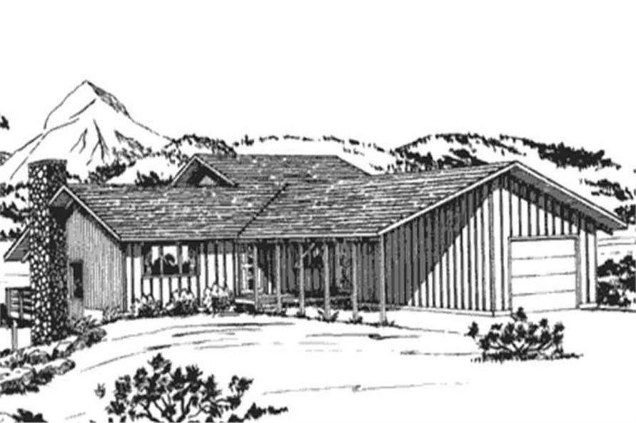 This image shows the front elevation of Vacation Homeplans LS-H-25-C.