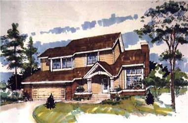 3-Bedroom, 1835 Sq Ft Country House Plan - 146-1848 - Front Exterior