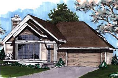 2-Bedroom, 1365 Sq Ft Ranch Home Plan - 146-1850 - Main Exterior