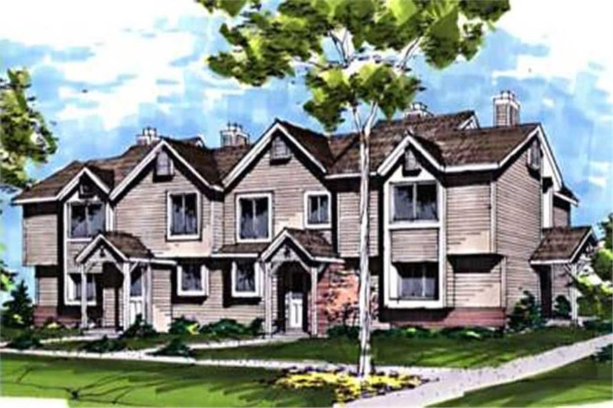 This image shows the Multi-Unit Style of this house plan.