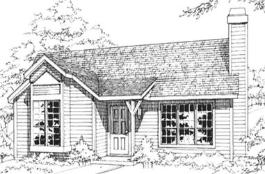 1-Bedroom, 890 Sq Ft Country Home Plan - 146-1857 - Main Exterior