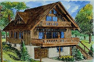 This is a colored rendering of Vacation Houseplans LS-H-26-1A.