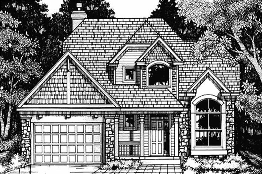 This is the front elevation of Country Home Plans LS-B-93039.