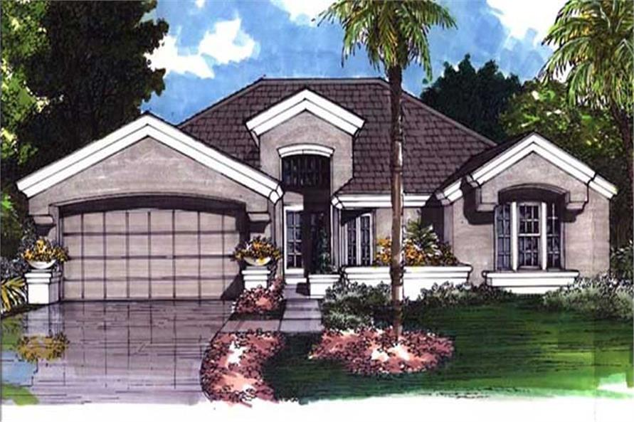 2-Bedroom, 1859 Sq Ft European Home Plan - 146-1863 - Main Exterior
