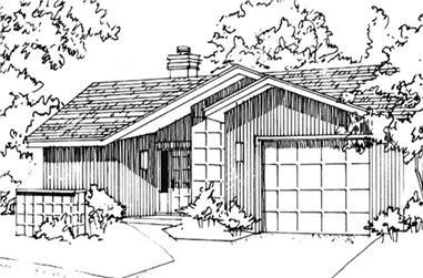1-Bedroom, 843 Sq Ft Modern Home Plan - 146-1864 - Main Exterior