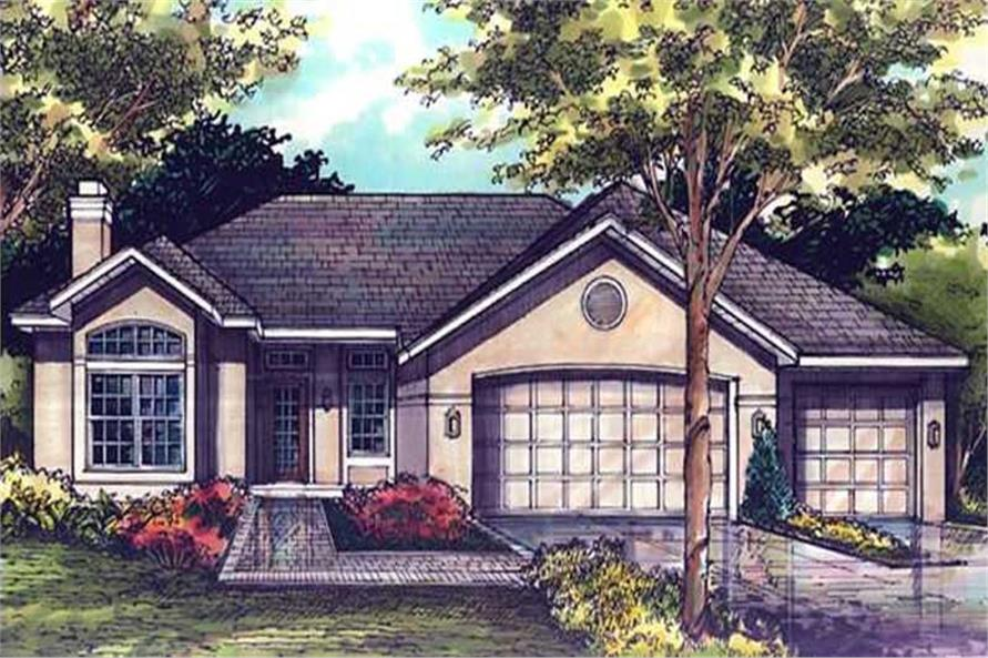 Ranch Houseplans LS-B-92030 front elevation.