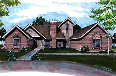 3-Bedroom, 2766 Sq Ft Contemporary House Plan - 146-1867 - Front Exterior