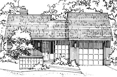 2-Bedroom, 951 Sq Ft Modern House Plan - 146-1870 - Front Exterior