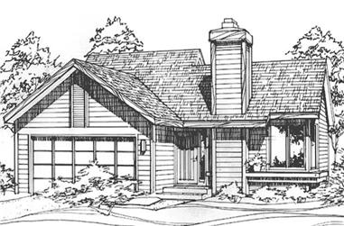 2-Bedroom, 988 Sq Ft Ranch Home Plan - 146-1871 - Main Exterior
