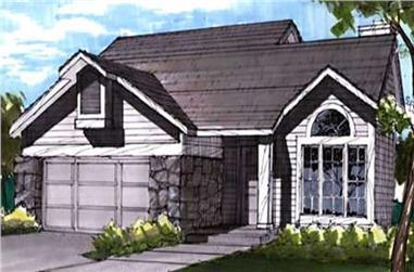 3-Bedroom, 1448 Sq Ft Cape Cod Home Plan - 146-1873 - Main Exterior