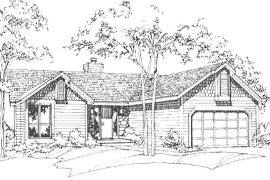 This image showss the Postmodern Style of this house plan.