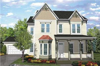 4-Bedroom, 3079 Sq Ft Country House Plan - 146-1879 - Front Exterior