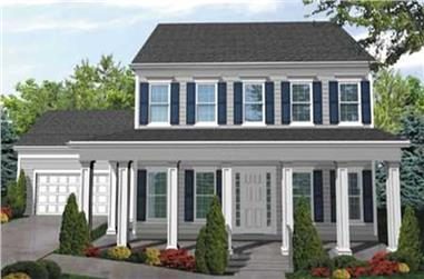 3-Bedroom, 2526 Sq Ft Country Home Plan - 146-1881 - Main Exterior
