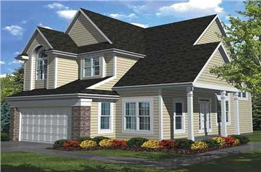 3-Bedroom, 2296 Sq Ft Traditional Home Plan - 146-1883 - Main Exterior
