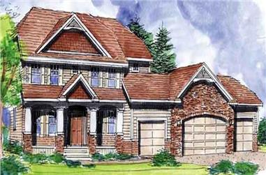 4-Bedroom, 2716 Sq Ft Country Home Plan - 146-1888 - Main Exterior