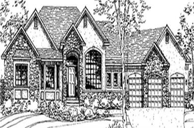 1-Bedroom, 4620 Sq Ft European Home Plan - 146-1890 - Main Exterior