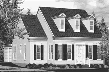 3-Bedroom, 2345 Sq Ft Cape Cod Home Plan - 146-1892 - Main Exterior