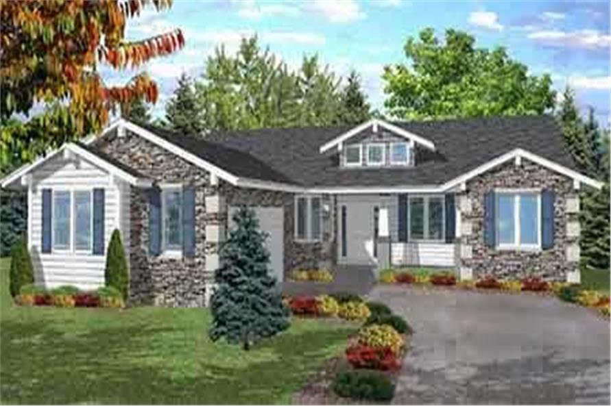 2-Bedroom, 2220 Sq Ft Bungalow Home Plan - 146-1893 - Main Exterior