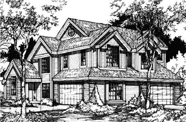 This is a great elevation image for Country Houseplans LS-B-93005.